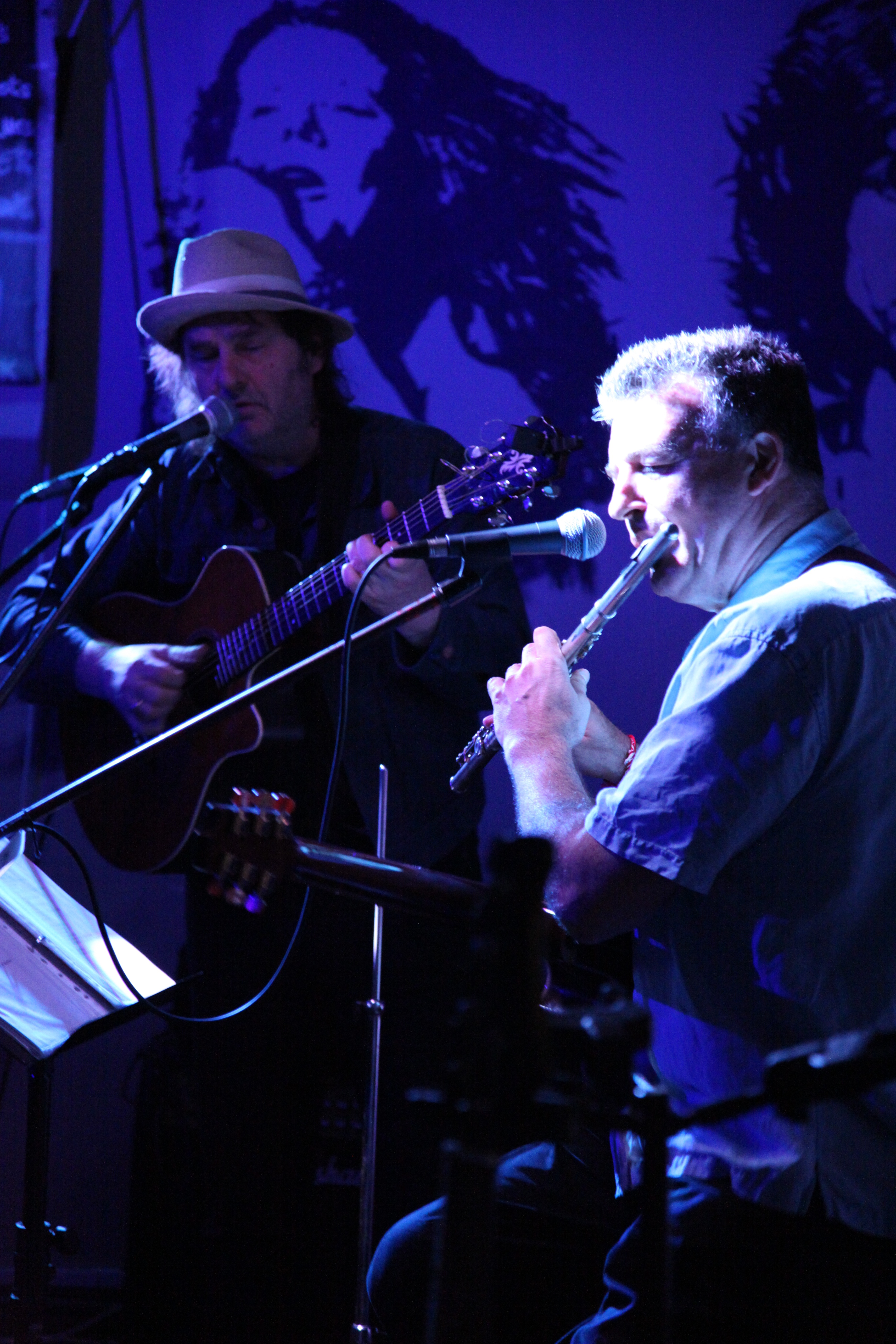 Bernie Hartley and Tom Martin at 'The Tower of Song'